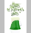 St patrick day greeting card design vector