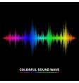 Sound wave background vector