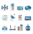 Realistic communication and business icons vector