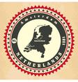 Vintage label-sticker cards of netherlands vector