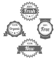 Modern flat shop badges tags stamps vector