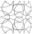 Seamless barbwire vector