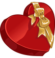Valentines day gift candy with gold decorative vector