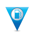 Gas station map pointer blue vector