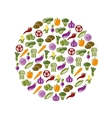 Vegetable icons in circle vector