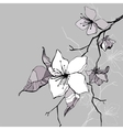 Beautiful flower hand drawn vector