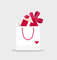Happy valentines day valentines day gift bag with vector