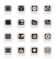 Simple mobile phone and computer icons vector