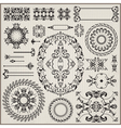 Ornamental pattern with border vector