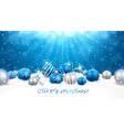 Christmas balls in snow vector