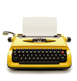 Old typewriter vector