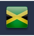 Square icon with flag of jamaica vector