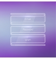 Login form ui element on a beautiful blurred vector