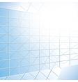 Glass windows on blue facade vector