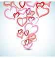 Watercolor hearts background vector