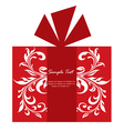 Floral gift card vector