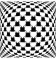 Design monochrome warped grid pattern vector