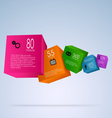 Abstract info graphic with colorful cubes vector