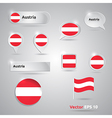 Austria icon set of flags vector