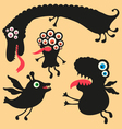 Happy monsters - set 1 vector