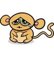 Cartoon kawaii sad monkey vector