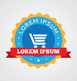 Shopping cart vintage badge label icon vector