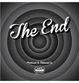 Movie ending screen - editable eps10 vector