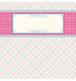 Label on color checked background vector