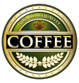 Coffee green premium quality label vector