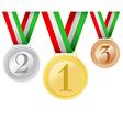 Set of medals vector
