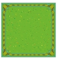 Abstract background frame green vector