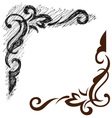 Black grunge ornate vector