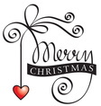 Hand lettering merry christmas vector