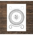 Wedding invitation card with floral wreath vector