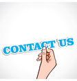 Contact us word in ahnd vector