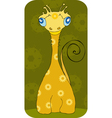 Yellow fantastic animal vector