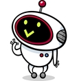 Cartoon kawaii robot vector