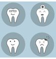 Teeth set dental collection for your design vector