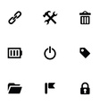 Universal 9 icons set vector