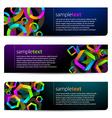 Geometric banners vector