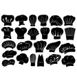 Set of different chef hats vector