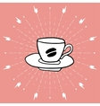 Hand drawn background with coffee cup vector