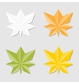 Leaves in origami style vector