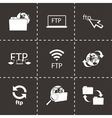 Ftp icons set vector