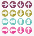 Arrow icons shadow vector