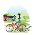 Young cyclists vector