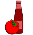 Tomato ketchup vector