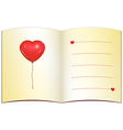 Love greeting card with place for text vector