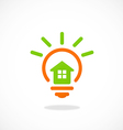 Inovation home idea abstract logo vector
