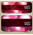 Elegant banners with hearts and place for text vector